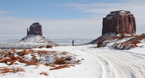 Monument valley in winter AZ  by Lonie von Hausen
