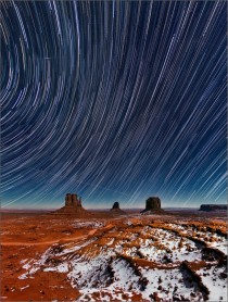 Monument Valley Star Trails by Valery Shcherbina
