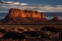 Monumental Sunrise Eagle and Sitting Hen Mesa Monument Valley UT