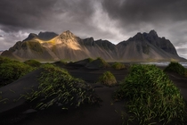 Moody afternoon at Vestrahorn Iceland  jakebylsma