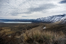 Moody day along the Eastern Sierra Nevada in California