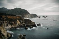 Moody day in Big Sur California