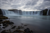 Moody Goafoss north Iceland