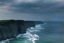 Moody Overcast Day on the Cliffs of Moher Ireland