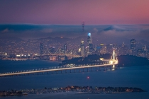 Moody summer evening over San Francisco