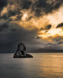 Moody Sunset in Nelson NZ
