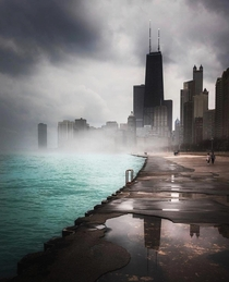 Moody weather in Chicago Illinois