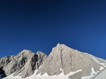 Moon over Mt Tyndall Inyo NF CA   x