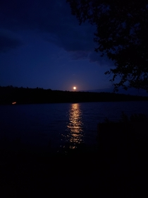 Moon over Shadow Lake Vermont