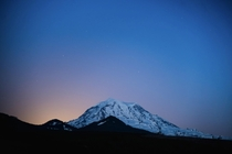 Moon rising behind Mt Rainer  x