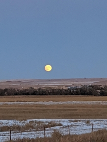 Moon rising over the Northeast Montana prairie