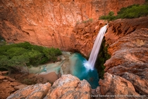Mooney at mm Havasupai Falls Grand Canyon Arizona United States By David Swindler