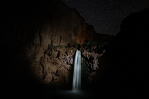 Mooney Falls at night