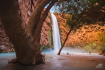 Mooney Falls in Havasupai
