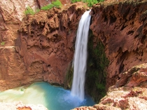 Mooney Falls in Havasupai Arizona