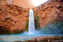 Mooney Falls near Havasupai AZ