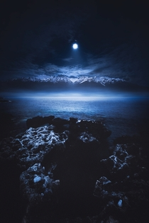 Moonlight magic  Crete Greece