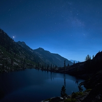 Moonlit Lakeside Trinity National Forest California