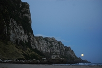 Moonrise at Purakaunui Bay Catlins New Zealand