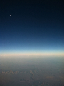 Moonrise from my airplane window unedited