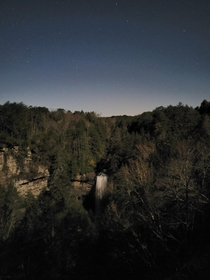 Moonrise over Foster Falls TN