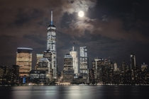 Moonrise over Manhattan