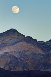 Moonrise over the Black Mountains of Death Valley -
