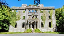 Moore Hall in County Mayo Ireland Burnt out during the Civil War in