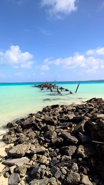 Moorings from the old plantation - Diego Garcia