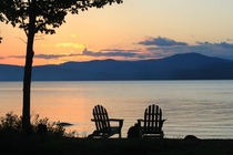 Mooselookmeguntic Lake Maine sunset