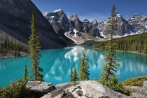 Moraine Lake Canada by Dean McLeod