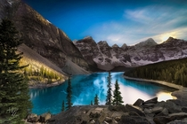 Moraine Lake in Banff National Park Alberta Canada - photo by Michael Lim