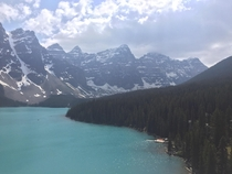 Moraine Lake is an absolute beast Alberta Canada