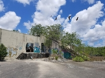 More Aerojet rocket facility near Homestead FL Instrumentation bunker near silo - the sloped sides were intended to protect the building from any explosions at the silo