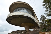 More fun Armenia stuff for you The abandoned Soviet Writers House Canteen overlooking Lake Sevan