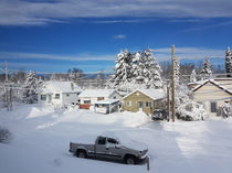 Morning after a day long snowstorm in northern Ontario