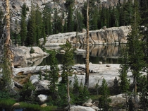Morning at Chewing Gum Lake in the Emigrant Wilderness California