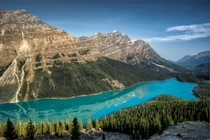 Morning at Peyto Lake Alberta Canada