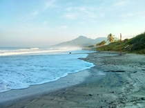 Morning breaks on a beach at Punta de Mita Riviera Nayarit Mexico