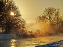 Morning fog amp winter sun Mecklenburg  Germany