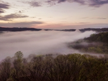 Morning Fog in a Valley Northern Pennsylvania - Photo by Vincent Stahl