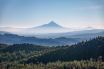 Morning haze in the Cascades of Southern Oregon
