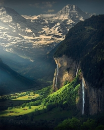 Morning Light for Lauterbrunnen Switzerland
