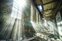 Morning light in an abandoned prison
