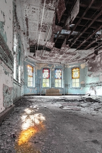 Morning Light in an Abandoned State Hospital built in