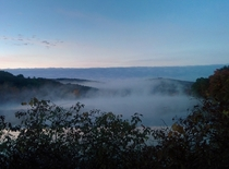 Morning mist at Frances Slocum State Park PA