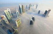 Morning mist over Dubai