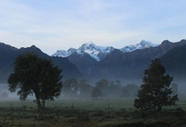 Morning mist taken near Lake Wanaka New Zealand