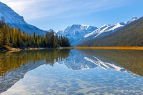 Morning reflections Icefields Parkway Canada