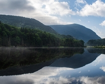 Morning Reflections on Saco Lake Crawford Notch NH